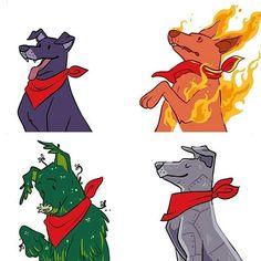 Pokemon, Fantasy Creatures, Scooby Doo, Fan Art, Stickers, Humor, Cool Stuff, Illustration, Fictional Characters