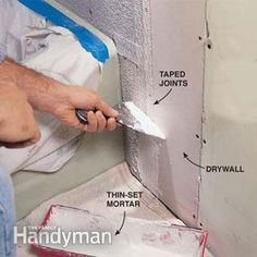 How To Prepare A Shower Alcove Or Bathtub Walls For Tile