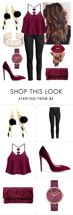 """Be you"" by paoladouka on Polyvore featuring Gianni Renzi, Sole Society, Nixon and Huda Beauty"