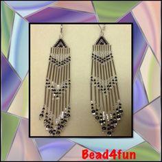 Beaded Earrings Name of Earrings: Glass Mates by Bead4Fun on Etsy