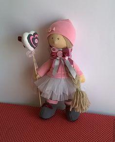 Купить кукла Анечка - бледно-розовый, кукла для девочки, кукла ручной работы, кукла в подарок
