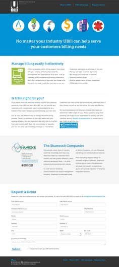 This custom web site design for UBill Advance - www.ubilladvance.com - was done to create a simplified explanation of the service and what industries could benefit from it. The web site includes visual representations of the industries that UBill is designed to service as well as the various capabilities available for customers' billing needs. The site incorporates an animation with short descriptions to walk visitors through every capability that UBill offers.