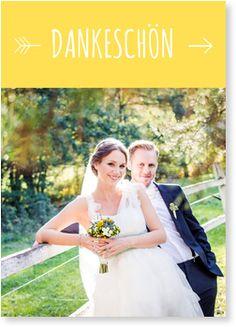 """Hochzeit Dankeskarte - """"Liebespfeil"""""""