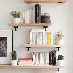 ✔️ 45 wall shelves design ideas how to decorate your home with wall shelves 13 Teen Room Decor, Room Ideas Bedroom, Small Room Bedroom, Bedroom Wall, Bedroom Decor, Bedroom Shelving, Storage Shelving, Shelving Ideas, Bookshelves In Living Room