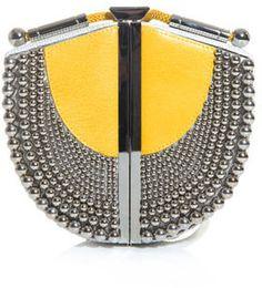 ShopStyle.com: Diane Von Furstenberg Sandalwood box-clutch $488.00