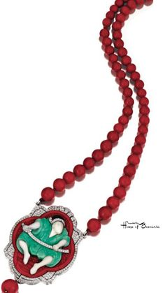 ~Art Deco Samouraï Necklace by Lacloche, circa 1925 | House of Beccaria#