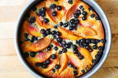 Peach and Blueberry Greek Yogurt Cake. I made this with GF flour, and it turned out ok. It was a smidge dense and dry, but definitely tasted ok. Would be good with strawberries added. And maybe whipped topping or ice cream.