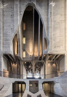 Concrete thinking: Thomas Heatherwick is on a Cape crusade   resurrecting a disused grain silo   concrete atrium carved out of the old grain storage pipes
