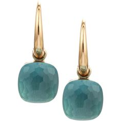 Nudo Small 18k Blue Topaz Earrings - Pomellato ($3,700) via Polyvore