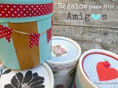 Potes de dulce de leche decorados ! Decoupage, Nutella, Ideas Para, Packing, Box, Inspiration, Craftsman Deck Boxes, Gardens, Jars