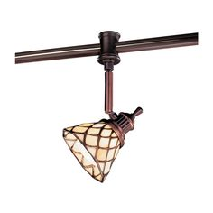 Hampton Bay 120-Volt Antique Bronze Flexible Track Head with Tiffany Shade-EC4153ABZ - The Home Depot