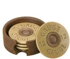 man gift ideas, man cave, bullet coasters, gun decor,drink coasters fathers day gift idea