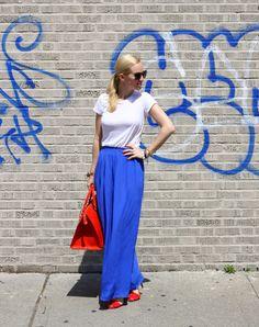 Splendid Tee Maxi Dress, Zara Shoes, Brahmin Weekender c/o, Elizabeth & James Sunglasses, Bracelets: Poshlocket, Gorjana, McQueen, JCrew, Hermes, LA Kahn Designs. Nails: Urban Outfitters.