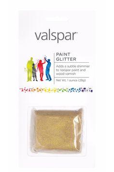 Add that unicorn sparkle to your kitchen with Valspar paint glitter.