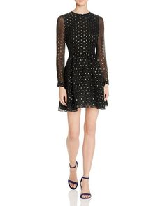 Rebecca Minkoff Peterson Metallic Weave Dress