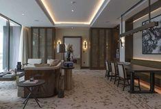 The Residences Dorchester Collection Dubai by Omniyat | LuxuryProperty.com Dubai Aquarium, Dorchester Collection, Dubai Hotel, New Property, Pent House, Home Automation, Contemporary Architecture, Bedroom Apartment, Luxury Living