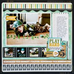 #papercraft #scrapbook #layout Echo Park - This & That: Charming by mljoles scrapbook layout