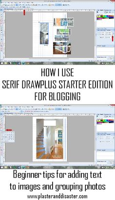 How I use Serif DrawPlus for Blogging - Plaster & Disaster