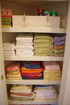 Sunny Side Up: Organized linen closet