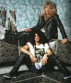 Guns N' Roses: Slash and Steven Adler.