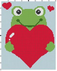 Love frog c2c crochet graph graphgan pattern perler