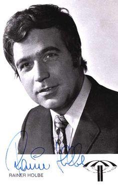 Autogrammkarte Rainer Holbe