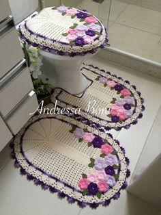 Crochet Books, Crochet Hats, Crochet Diagram, Bathroom Sets, Bathrooms, Decoration, Captain Hat, Rugs, Diy
