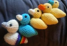 This pattern contains instructions to make the little duckie and lovey as shown, or you may use it to make a larger, full-size baby blanket. Or just the duckie!