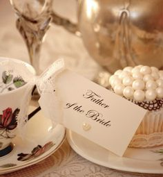 Lace and Pearl Place Settings