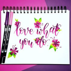 Love what you do! 💖💜 Made this for day 5 of the #januaryletteringmotivation challenge by @letteringbymhel @inkingwithjoy @letteringjunkie! **I'm sorry I'm a little behind for this challenge. My bronchitis is getting better although I'm definitely not at 100% again. Hopefully I'll be back to my routine soon and back to posting on the regular! Hope you're all having a wonderful weekend!** #calligraphy #calligraphynewbie #calligraphyph #moderncalligraphy #handletter #handlettering #lettering… January Lettering, My Routine, Modern Calligraphy, Hand Lettering, Photo And Video, Day, Challenge, Instagram, Handwriting