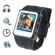 Digital Watch MP4 Player (1.5 inch, 8GB, Black)