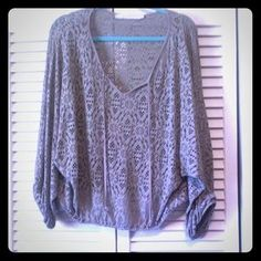 I just discovered this while shopping on Poshmark: Lola & Sophie clay laser cut peasant top NWOT. Check it out!  Size: M