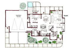 Modern Green Home Floor Plans