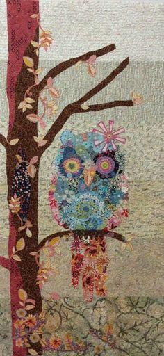 Owl Collage Quilt Pattern by Laura Heine