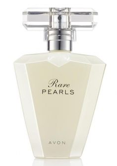 AVON - Rare Pearls Perfume Spray scent of shimmering floral with a pure heart of magnolia and sparkling plum.  Order# 933-120 Reg. $23