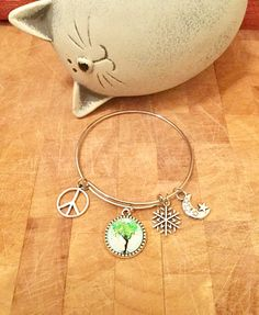 Items similar to Tree Of Life Expandable Peace Charm Bangle on Etsy Etsy Jewelry, Unique Jewelry, My Etsy Shop, Bangles, Charmed, Trending Outfits, Handmade Gifts, Life, Vintage