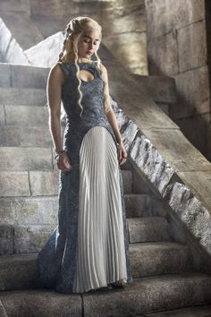 The 24 best fashion moments on Game of Thrones: Emilia Clarke as Daenerys Targaryen.