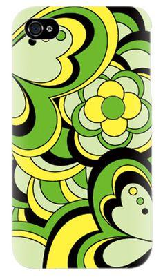 iPhone4/softbankケース♪花柄幾何学模様♪スマホSP-2【a0013856】