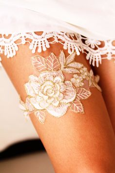 10 No Brainer Bachelorette Gift Ideas including this sexy garter belt.