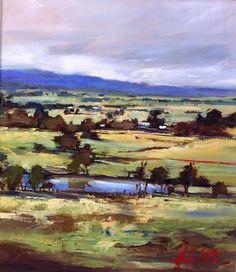 Spring-Landscape-Gisborne-Oil. - by Helen Cottle