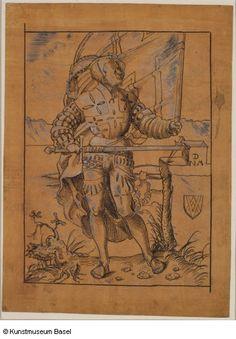 """""""Pannerträger"""" (?), 1512. Niklaus Manuel gen. Deutsch (Bern)."""