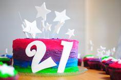 21st Birthday Party - Chocolate Mud Cake