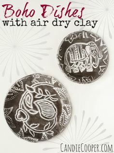 ACTIVA PRODUCTS Boho Dishes with black Plus clay