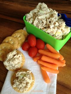 creamy and zesty southern chicken salad on crackers SuperGlueMom.com