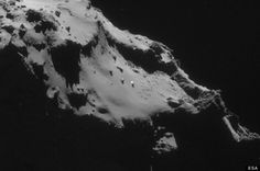 A #UFO has been sighted on the surface of Comet 67P Churyumov Gerasimenko by the Rosetta spacecraft.  The craft, which is currently tailing the comet (and has just announced its landing point), was able to take a high-resolution image which then revealed a metallic-looking object.