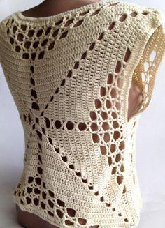Cultivo tapa del ganchillo Vestido de verano / por ElenaVorobey