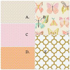 Peach Pink and Gold Butterfly Crib Bedding by butterbeansboutique