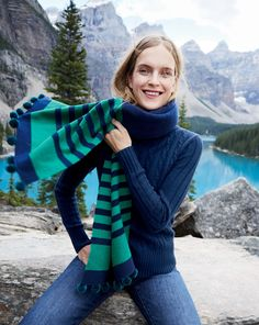That warm, fuzzy feeling. We've got scarves with all the bells and whistles (aka stripes and pom-poms) at J.Crew.