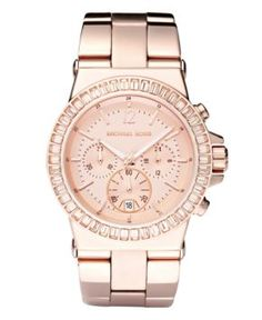 Michael Kors Watch, Women's Chronograph Rose Gold Tone Stainless Steel Bracelet 43mm MK5412 - Women's Watches - Jewelry & Watches - Macy's