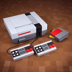 Retro NES Lego Kit by Chris McVeigh